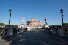 святой rome замока ангела Стоковое Изображение