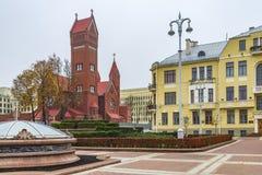 Святой Simone и церковь Alyona, Минск стоковое изображение rf
