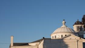 Святые куполы среди безоблачного неба Стоковая Фотография
