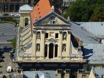 Святые Питер и церковь гарнизона Пол в Львове, Украине стоковое фото rf