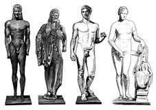 Святые скульптуры иллюстрация вектора