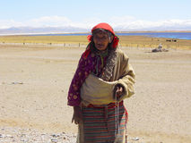 Святый старый тибетец стоковое изображение rf