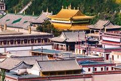 Святыни буддийского виска Kumbum здания тибетской буддийской буддийские религиозные Стоковые Фото