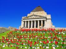 Святыня памяти Мельбурна Австралии Стоковые Изображения RF