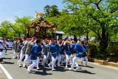 святыня поплавка парада портативная, Odawara, Япония стоковое изображение rf