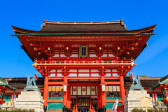 Святыня Fushimi Inari в Киото Стоковые Фотографии RF