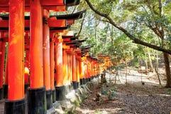 Святыня Fushimi Inari, Киото, Япония Стоковые Изображения