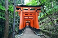 Святыня Fushimi Inari, Киото, Япония Стоковое Фото