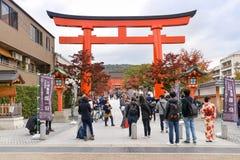 Святыня Fushimi Inari, Киото, Japn Стоковая Фотография