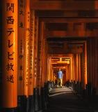 Святыня Fushimi Inari Taisha в Киоте, Японии Стоковое фото RF