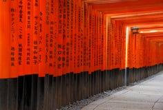 Святыня Fushimi Inari Taisha в Киоте, Японии Стоковое Изображение