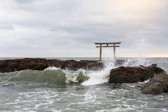 Святыня isozaki Oarai японца стоковое фото