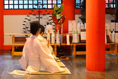 Святыня Itsukushima синтоистская, Miyajima, Япония Стоковое Изображение RF
