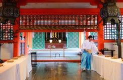 Святыня Itsukushima синтоистская, Miyajima, Япония Стоковая Фотография RF
