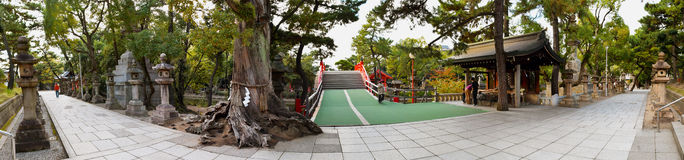 Святыня Sumiyoshi Taisha, Осака Стоковая Фотография