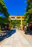 Святыня Takayama Sakurayama Hachiman-Gu входа Стоковые Изображения RF