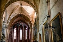 Свят-вкладчик собора в AIX-en-Провансали Франции стоковые фотографии rf