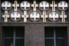 Свят-Призрак-церковь Франкфурт орнамента фасада Стоковое Изображение
