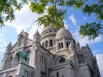 Священная базилика сердца Montmartre Стоковая Фотография