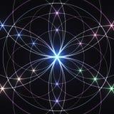 Священная геометрия, накаляя геометрический орнамент предпосылка мистическая бесплатная иллюстрация
