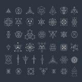 Священная геометрия подписывает собрание Стоковые Фото