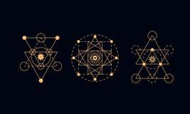 Священная геометрия, символы алхимии Стоковые Изображения