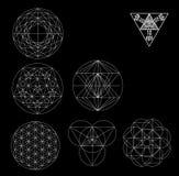Священная иллюстрация вектора символов и signes геометрии Татуировка битника Цветок символа жизни Стоковые Фотографии RF