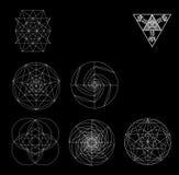 Священная иллюстрация вектора символов и signes геометрии Татуировка битника Цветок символа жизни Стоковые Изображения