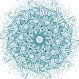 Священная мандала символов и элементов геометрии Стоковое Изображение