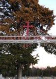 Священная миссия и кладбище сердца стоковые фотографии rf
