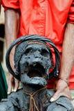 Священная мумия племени папуасския Dani. Стоковые Изображения
