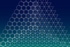 Священная предпосылка символов и элементов геометрии Стоковое фото RF