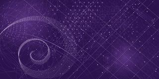 Священная предпосылка символов и элементов геометрии Стоковая Фотография RF