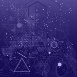 Священная предпосылка символов и элементов геометрии Стоковое Изображение RF