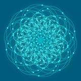 Священная предпосылка символов и элементов геометрии Стоковые Изображения RF