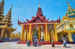 Священная реликвия волос моя хорошо, Shwedagon, Янгон, Мьянма стоковые фотографии rf