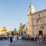 Священники и разведчики в религиозном шествии сборника Domini Стоковое фото RF