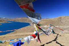 Священное озеро в Тибете Стоковое Изображение RF