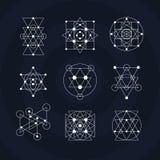 Священные символы геометрии Стоковое Фото