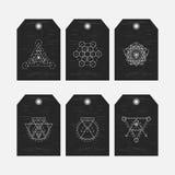 Священные установленные бирки геометрии Стоковое Изображение