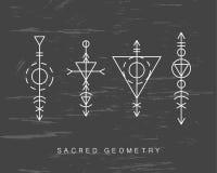 Священные установленные знаки геометрии Стоковое Изображение