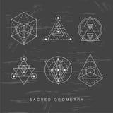 Священные установленные знаки геометрии Стоковая Фотография