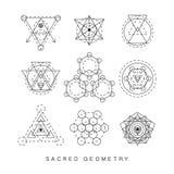Священные установленные знаки геометрии Стоковые Фото