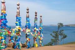 Священные штендеры Сержа на острове Olkhon стоковая фотография