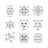 Священные элементы геометрии Стоковые Изображения