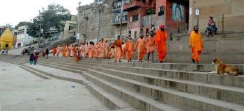 Священный город Benaras стоковое изображение rf