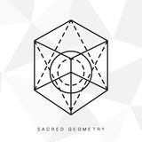 Священный знак геометрии Стоковые Фото