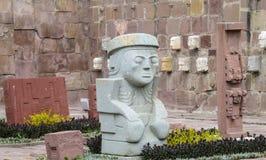 Священный идол от Tiwanaku Стоковое Фото