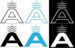 Священный логотип письма a геометри-воздуха минималистский Стоковая Фотография
