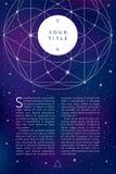 Священный символ геометрии Шаблон bfnner Flayer Стоковые Фотографии RF
